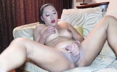Chubby Ladyboy Cake Solo Masturbating
