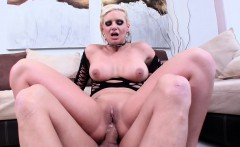 Foxy chick Phoenix Marie proudly shows her gaping hole