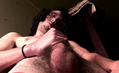 Kinky butt pirate unveils his bush and jacks off solo