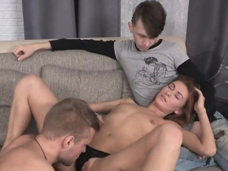 Dirt poor fella allows nasty pal to screw his gf for cash02o