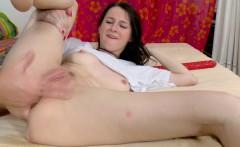 Trim Brunette Loves It In The Ass