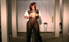 Scenes of bdsm domination with non-professional woman