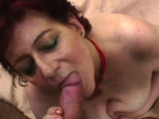 Chubby old slut loves big cock and intense tit jobs