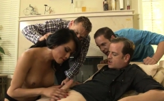 Busty Brunette Ts Jessica Fox Double Anal By Big Cocks