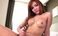 Dirty Tranny Jerks Off Her Big Shaft