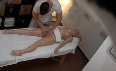 blonde busty milf cheating on massage