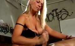 Mistress loves to jump on her subs cock