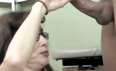 Granny doctor shows how they collected a sperm sample in