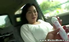 This asian milf goes out for a naughty ride with her young