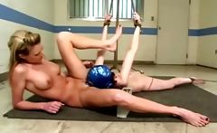 LEZDOM bitch electro torturing muff diving sub
