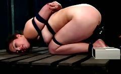 LEZDOM dominatrix electric shocking slave