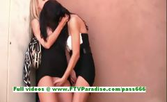 Kirsten and Natalie gorgeous lesbians kissing and licking