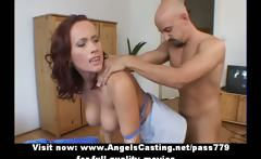 amazing gorgeous sexy redhead babe with big tits gets her
