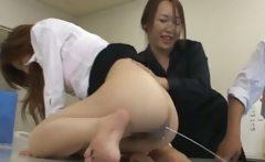 Asian secretary from Tokyo with bum milk