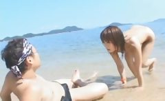 Super hot Japanese babes doing weird sex