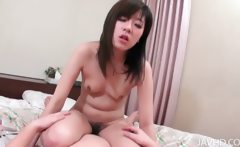 Airi deep throats a cock after having her pretty pussy toyed