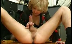 Mature secretary seduce young boss