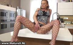 Sexy mature woman in horny lingerie