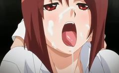 Excited hentai girl getting her squirting cunt teased hard
