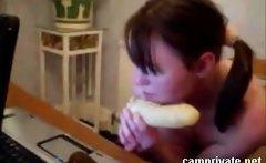 Anal Dildo masturbation Brianna on webcam