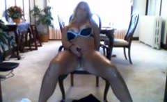 Dutch Milf Jacqueline toying in living room