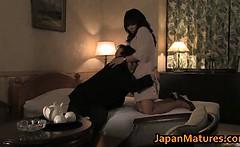 Hot slut Rumi Kazama sucks and fucks