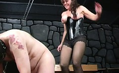 Bizarre milf dominatrix babes extreme cock and balls