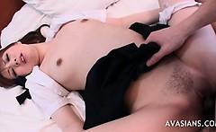 Full Of Cum Asian Teen Pussy