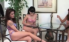 Awesome lesbian orgy with gorgeous babes