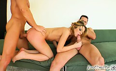 Debbie is a skinny chick who loves to get ass fucked. She