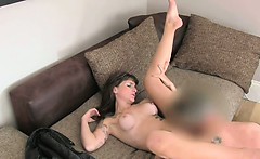 Tattooed amateur with glasses fucking