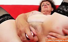Fat milf intense solo