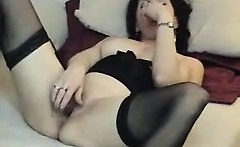Hot dark haired slut with sexy body