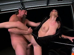 Hot babe Rebeca Linares get pounded from behind while