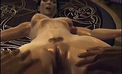 Busty hentai girl pussy licks by her boyfriend