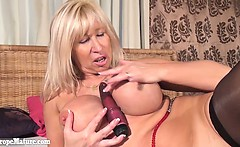 Mature horny granny with big boobs