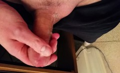 My small cock's messy cumshot