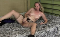 Mature Catherine Strips and Pleasures Herself