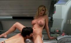 Busty blonde Nikki Benz fucking