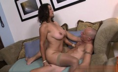 Busty wife first cum swallow