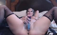MILF in Stockings Fucks Pussy
