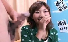 Subtitled CFNM Japanese amateur watches masturbation