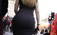 European With A Great Booty Walking Around