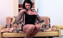 Asian tgirl Adriana Fae masturbating