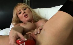 MILF Wearing Lingerie Masturbating With A Toy