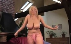 Busty Blonde Chick Dancing And Stripping