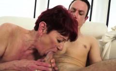 60 Y.O. Grandma Blowing Young Cock