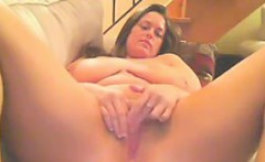 BBW With Big Boobs Masturbates