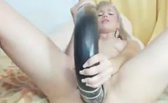 Blonde Chick With A Huge Toy