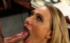 Uniform babe pussylicked before facial